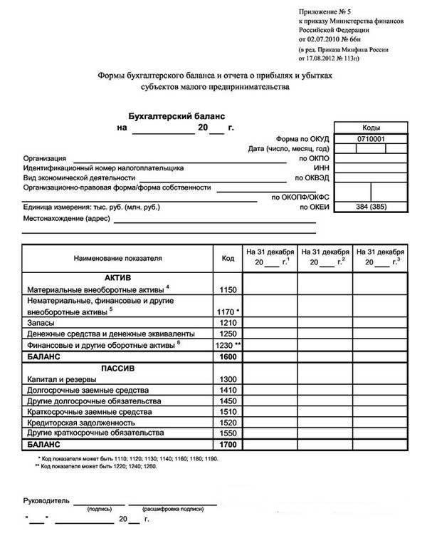 Формы Бухгалтерской Отчетности 2011